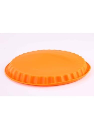 Turuncu Muffinform Silikon Büyük Kek Kalıbı-Dekotrends